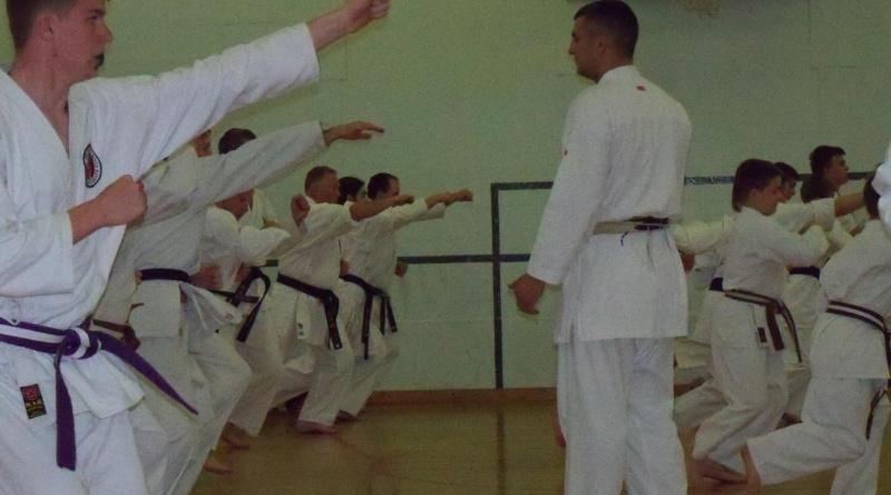 Sensei Greg taking a squad session at Hagley for Ruach Karate