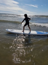 Front stance on Surf board